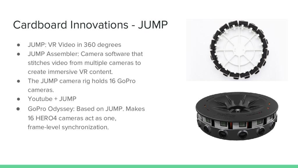 Cardboard Innovations - JUMP ● JUMP: VR Video i...