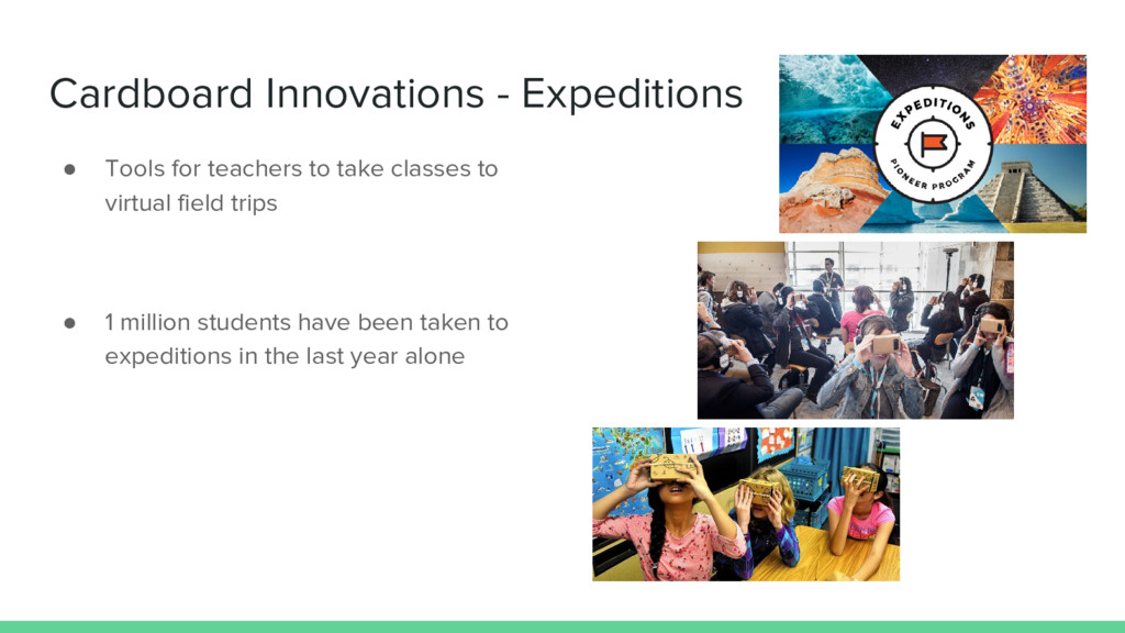 Cardboard Innovations - Expeditions ● Tools for...