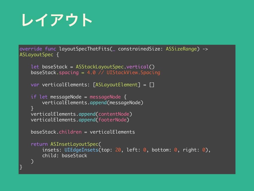 ϨΠΞτ override func layoutSpecThatFits(_ constr...