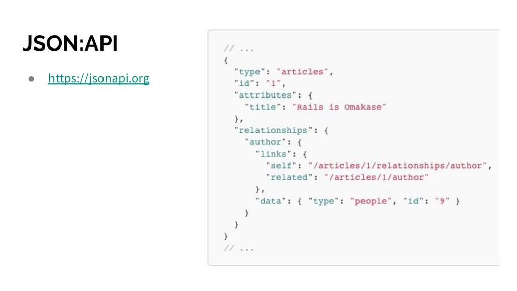 JSON:API ● https://jsonapi.org