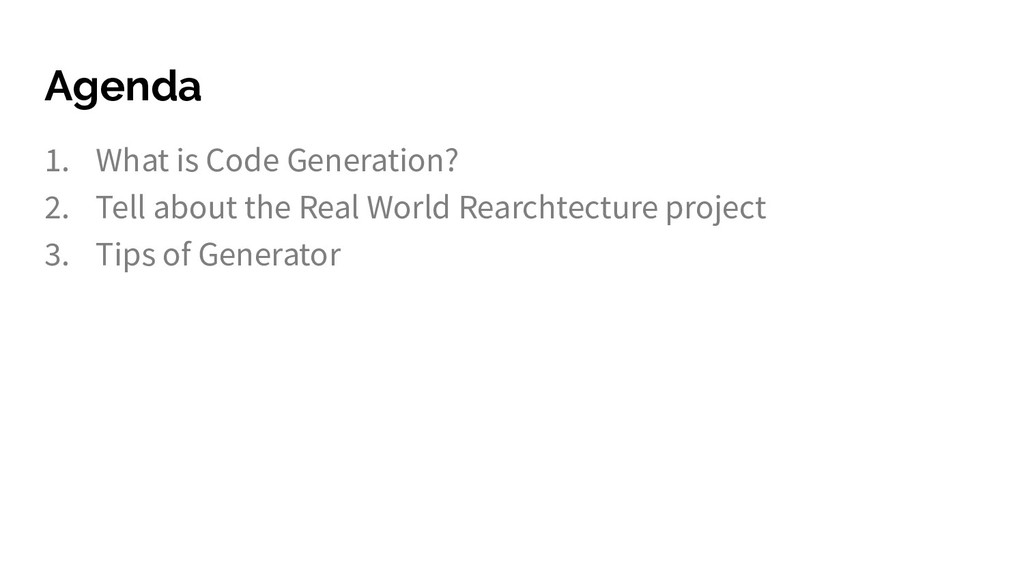 1. What is Code Generation? 2. Tell about the R...