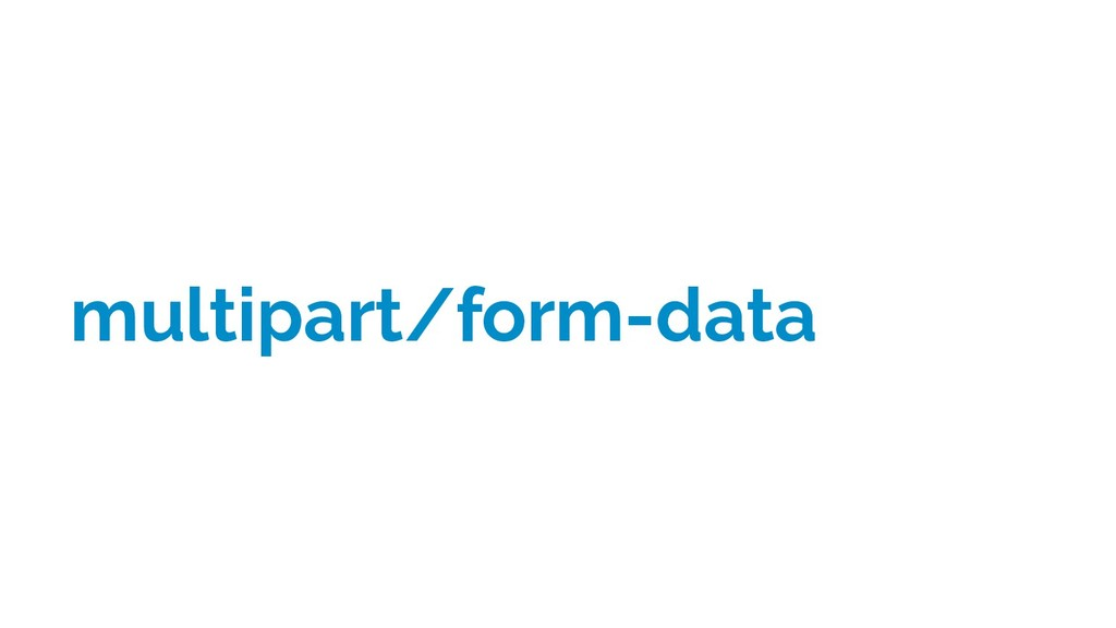 multipart/form-data