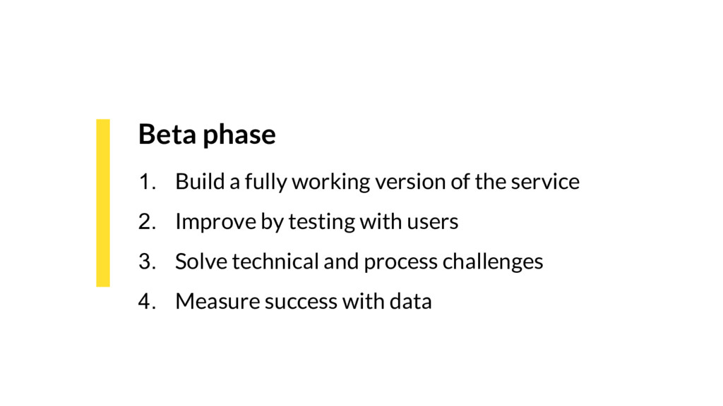 Beta phase 1. Build a fully working version of ...