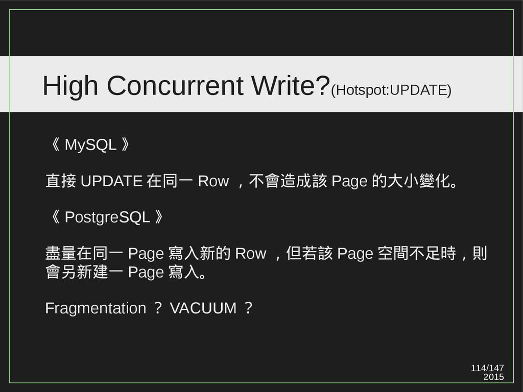 114/147 2015 High Concurrent Write?(Hotspot:UPD...