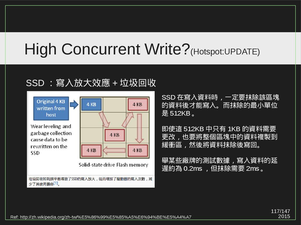 117/147 2015 High Concurrent Write?(Hotspot:UPD...