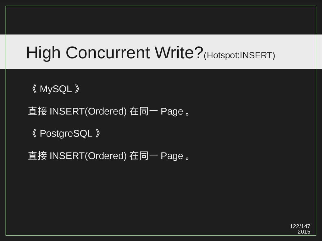 122/147 2015 High Concurrent Write?(Hotspot:INS...