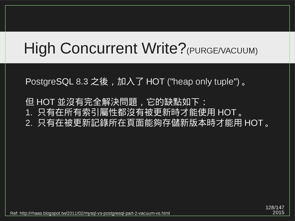128/147 2015 High Concurrent Write?(PURGE/VACUU...