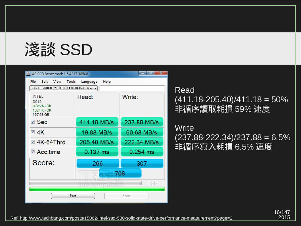 16/147 2015 淺談 SSD Ref: http://www.techbang.com...