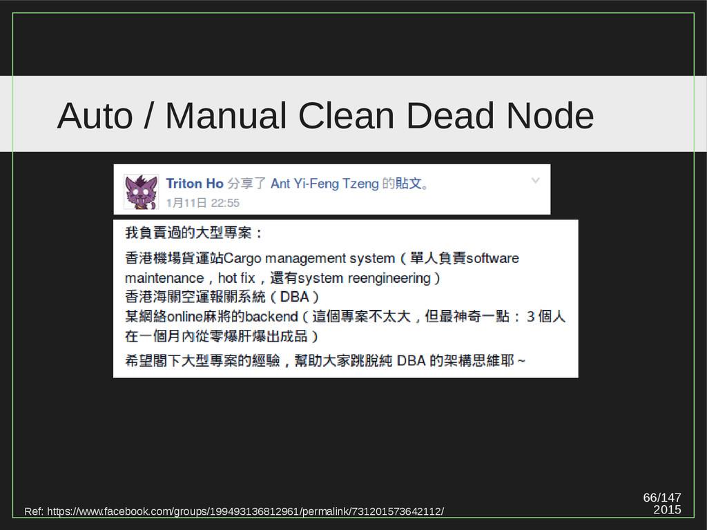 66/147 2015 Auto / Manual Clean Dead Node Ref: ...