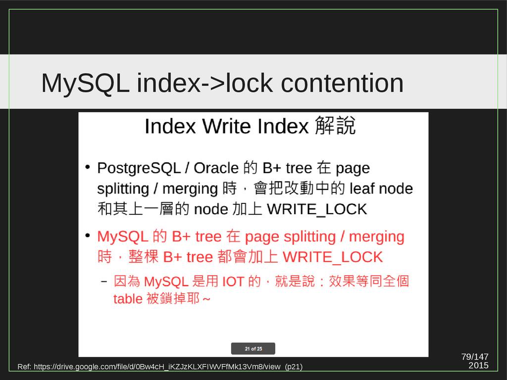 79/147 2015 MySQL index->lock contention Ref: h...