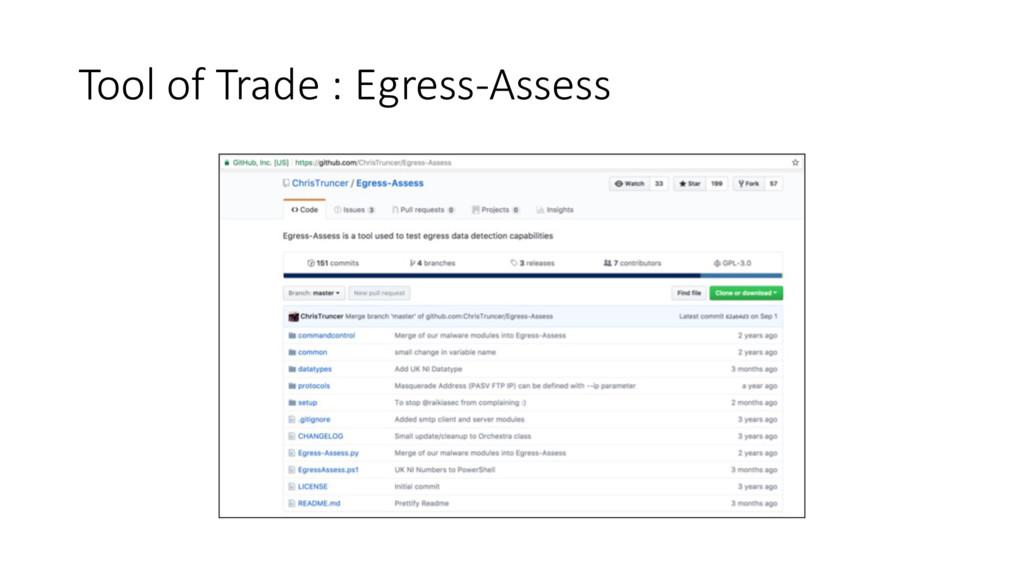 Tool of Trade : Egress-Assess