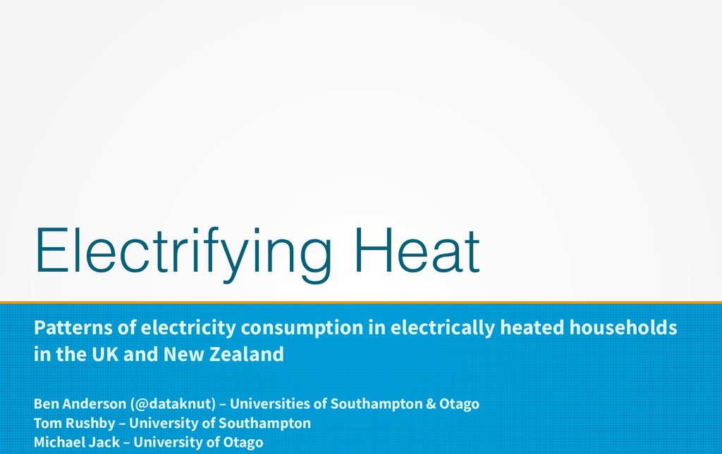 Electrifying Heat Patterns of electricity consu...