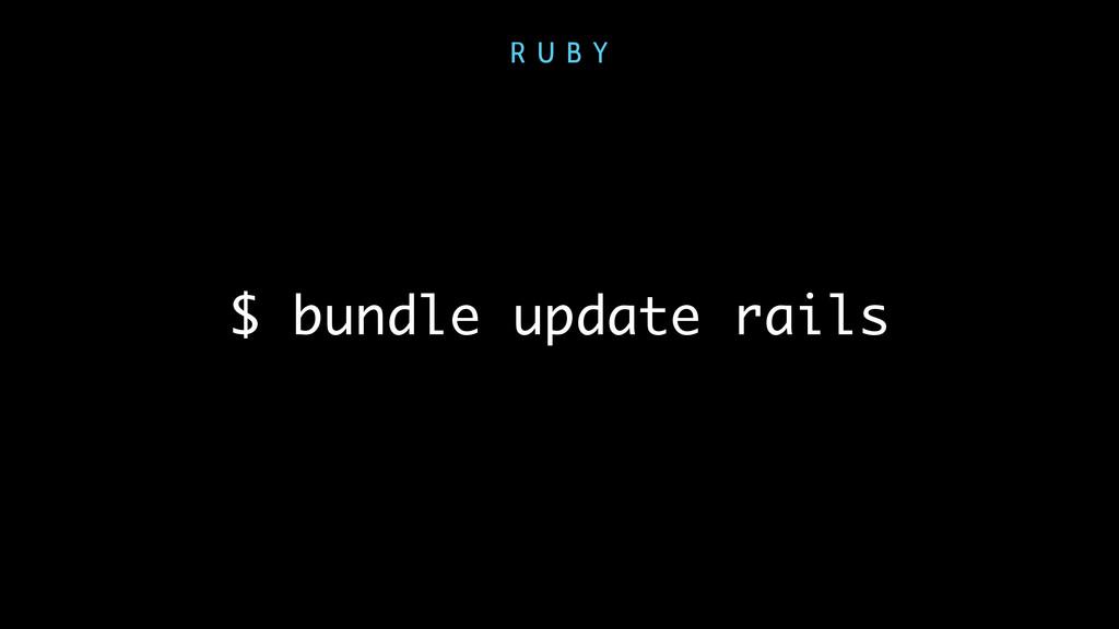 $ bundle update rails R U B Y