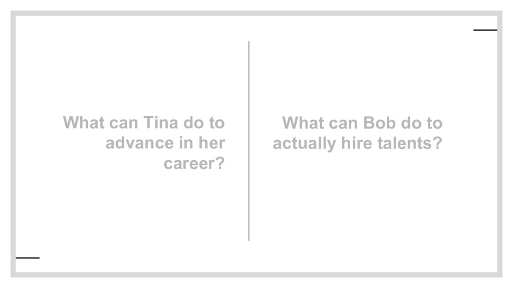 What can Tina do to advance in her career? What...