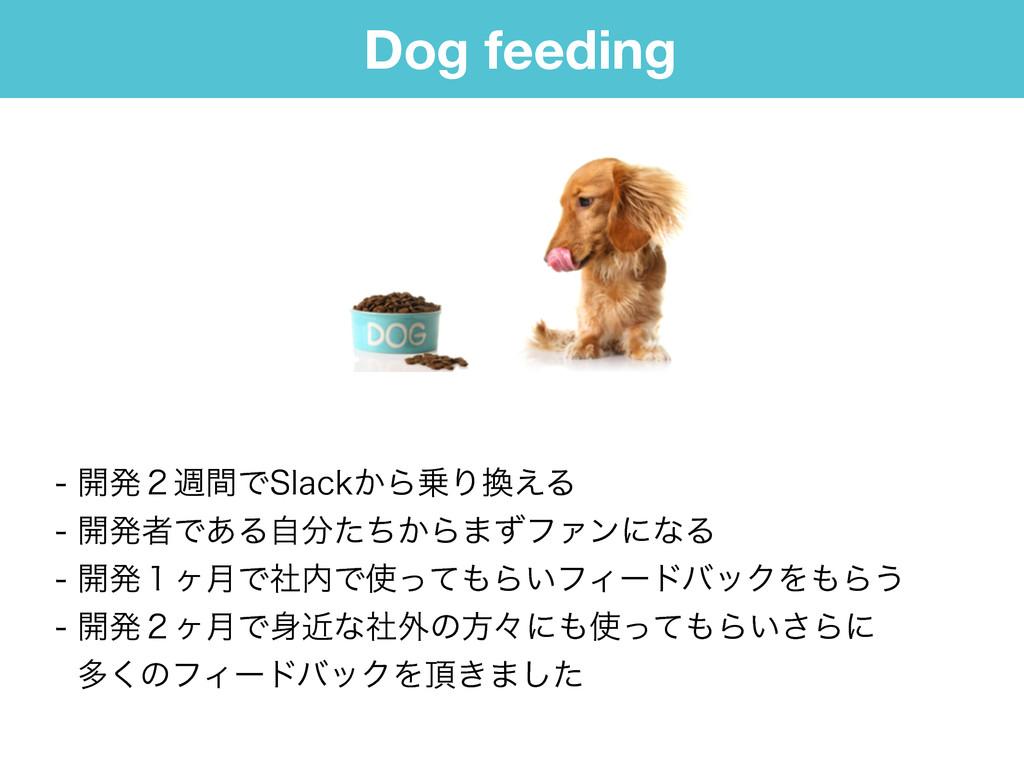 Dog feeding ։ൃ̎िؒͰ4MBDL͔ΒΓ͑Δ ։ൃऀͰ͋Δ͔ࣗͨͪ...