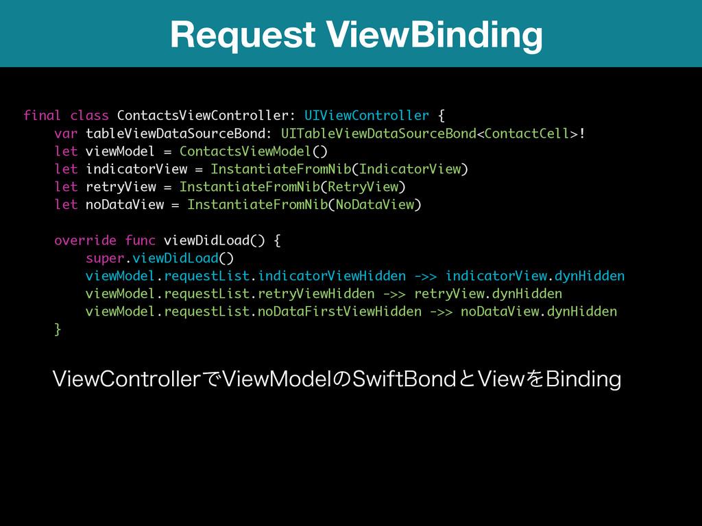 Request ViewBinding final class ContactsViewCon...