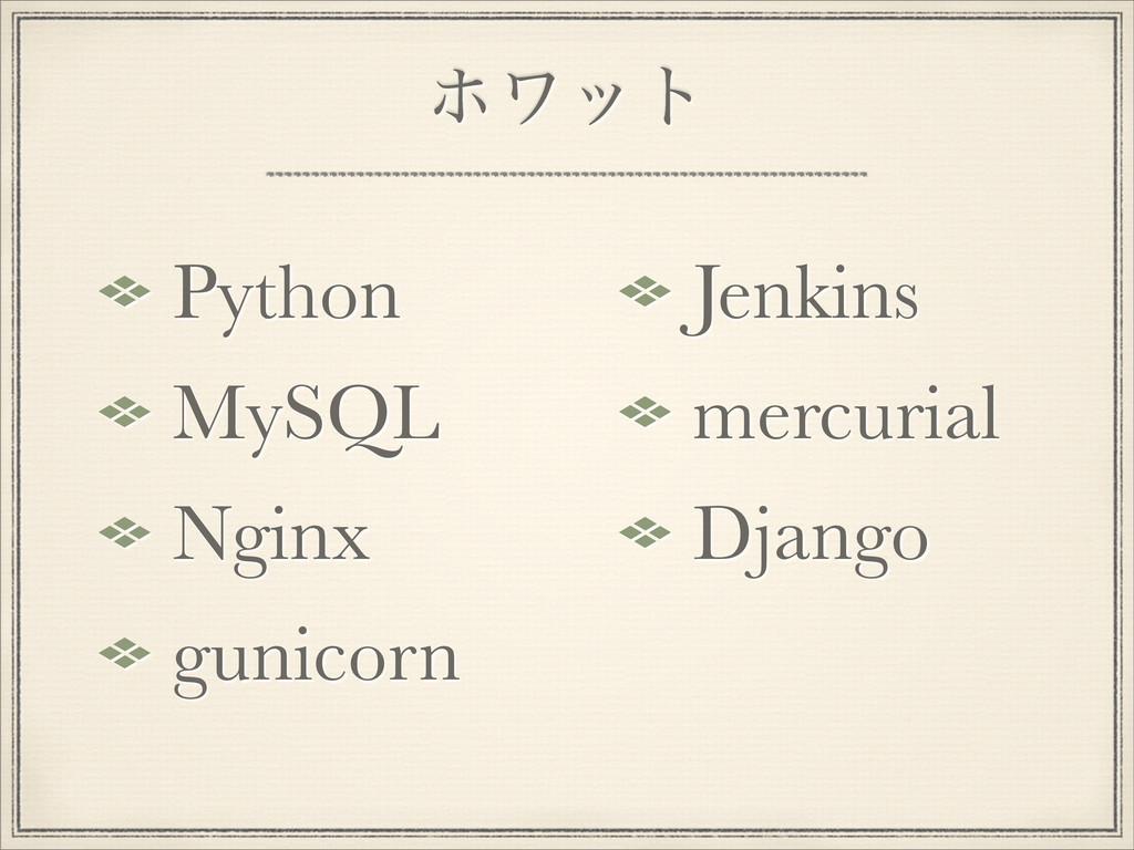 ϗϫοτ Python MySQL Nginx gunicorn Jenkins mercur...