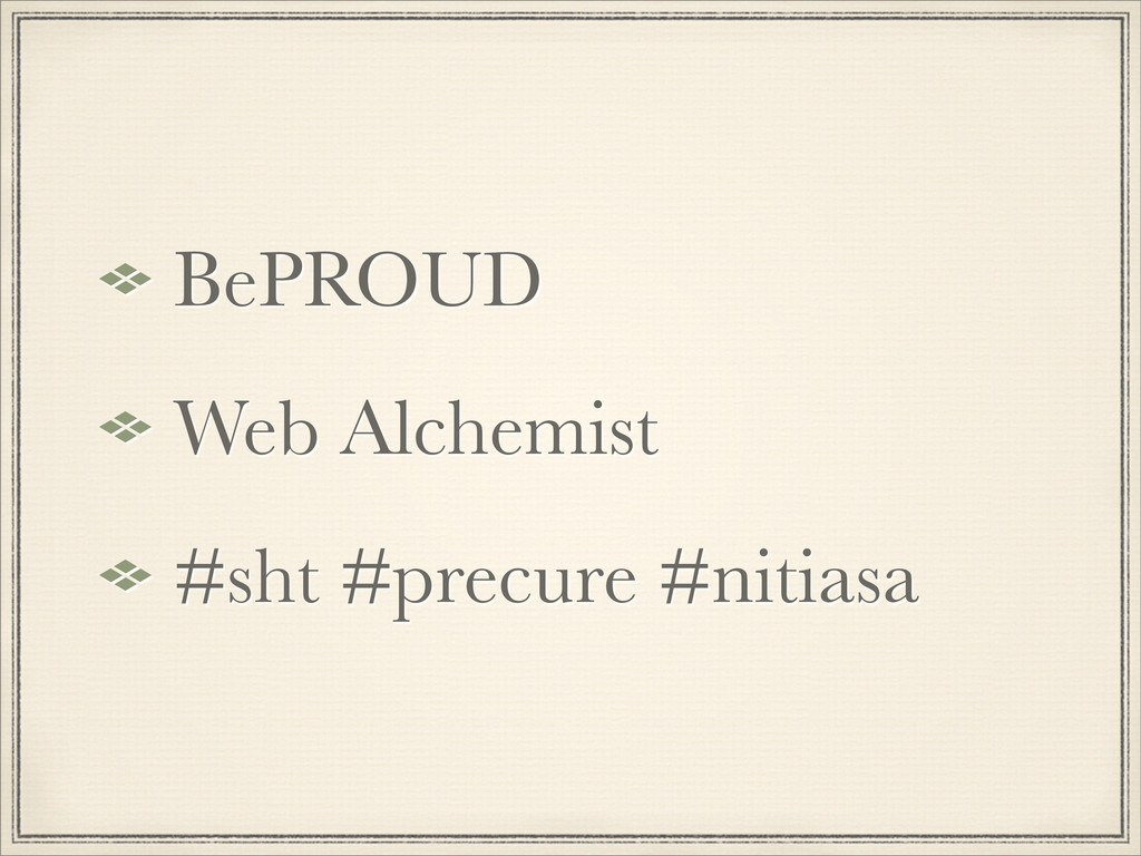 BePROUD Web Alchemist #sht #precure #nitiasa