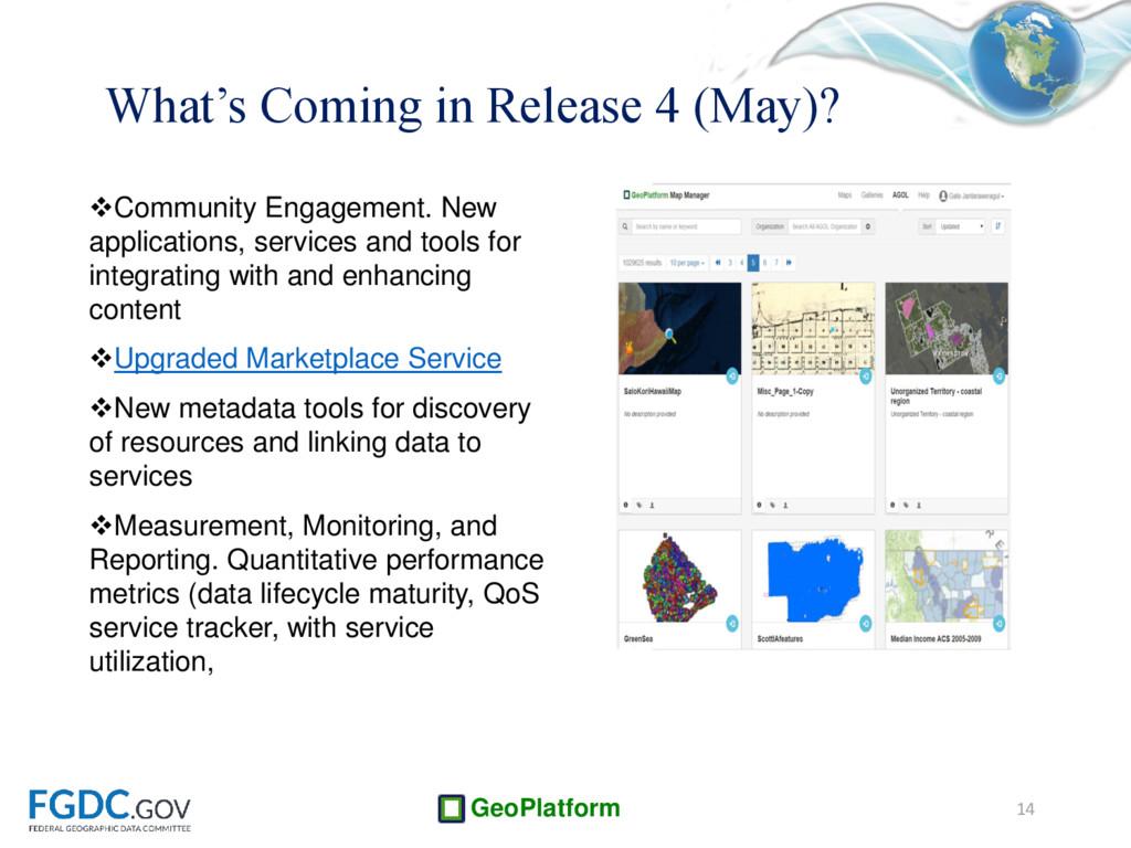 GeoPlatform Community Engagement. New applicat...