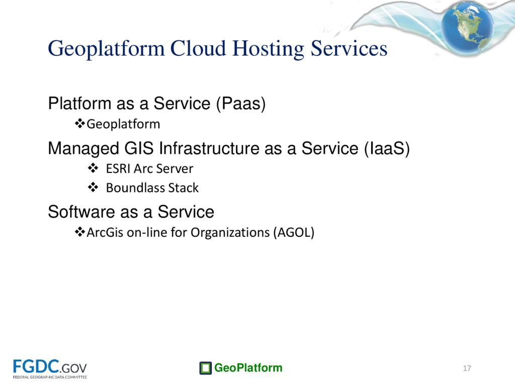 GeoPlatform Geoplatform Cloud Hosting Services ...
