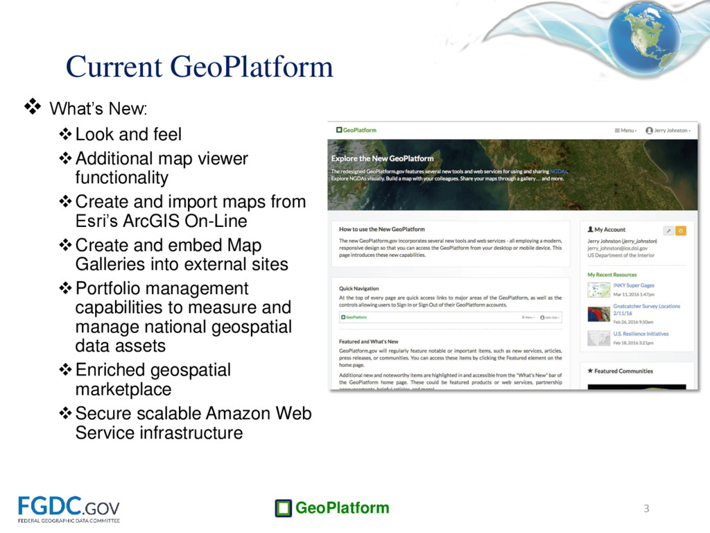 GeoPlatform  What's New: Look and feel Addit...