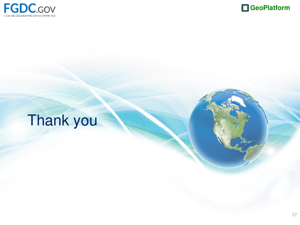 GeoPlatform Thank you 27