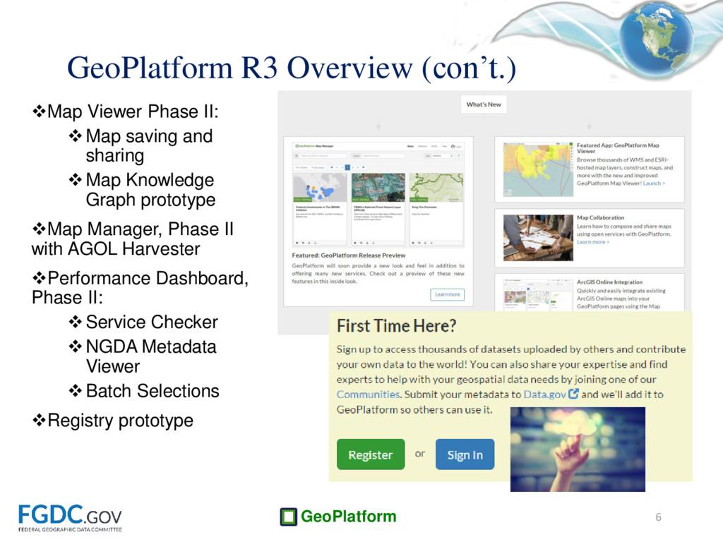 GeoPlatform Map Viewer Phase II: Map saving a...
