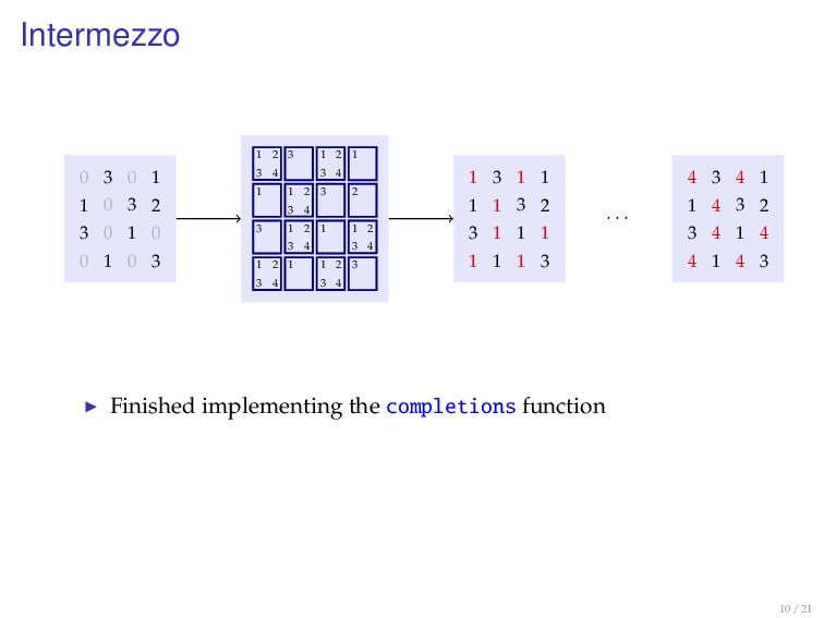 Intermezzo 0 3 0 1 1 0 3 2 3 0 1 0 0 1 0 3 1 2 ...