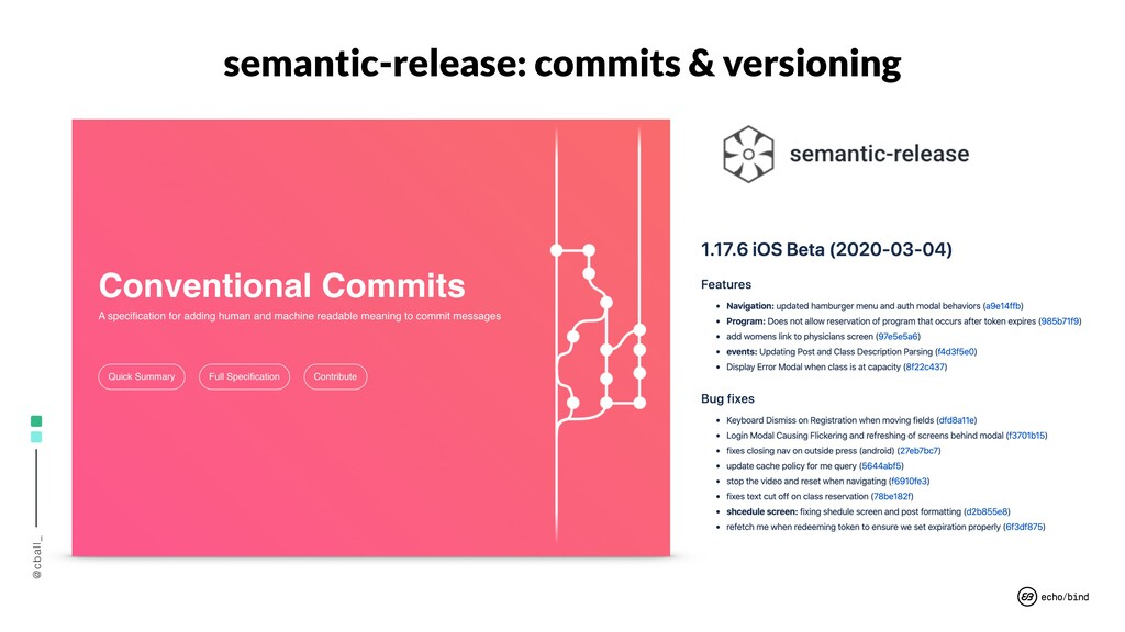 @cball_ semantic-release: commits & versioning