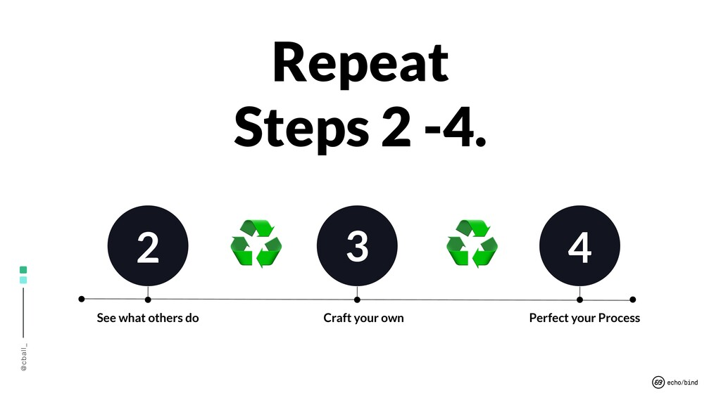 @cball_ Repeat Steps 2 -4. ♻ ♻ 2 3 4 Perfect yo...