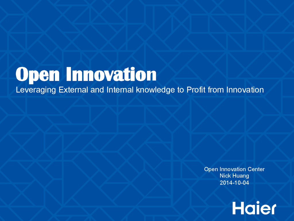 Open Innovation Leveraging External and Interna...