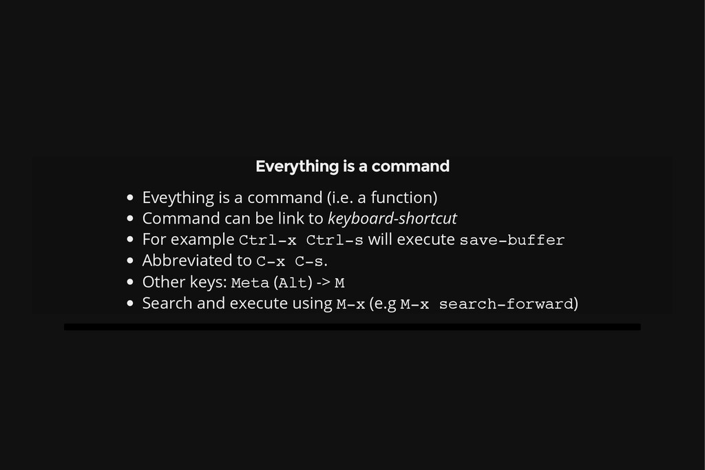 Everything is a command Eveything is a command ...