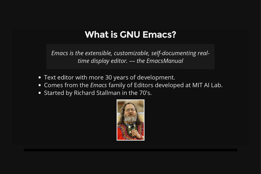 What is GNU Emacs? Emacs is the extensible, cus...