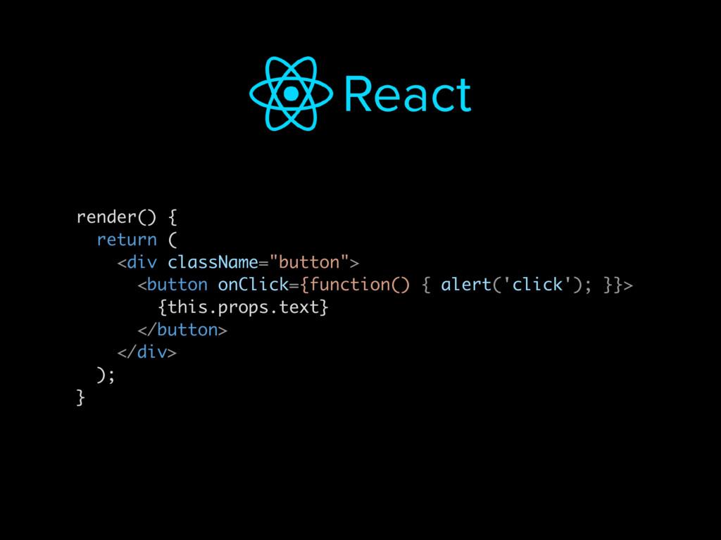 "render() { return ( <div className=""button""> <b..."