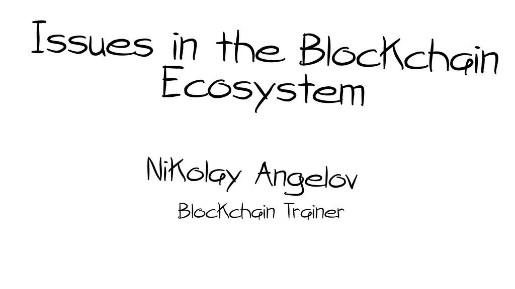 Blockchain Trainer