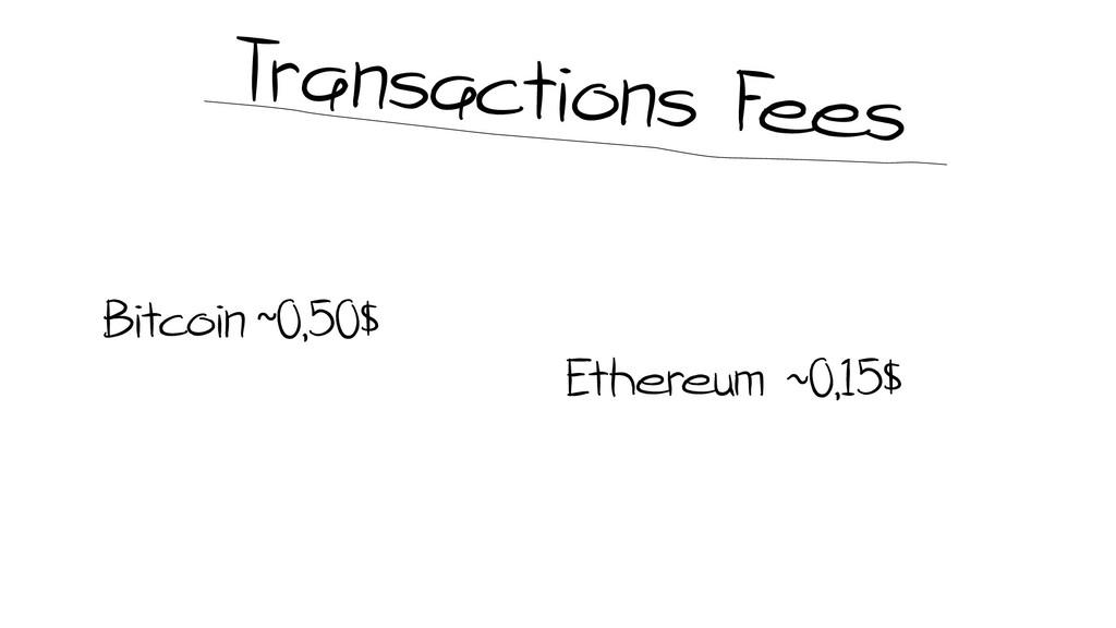Bitcoin ~0,50$ Ethereum ~0,15$