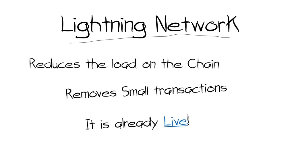 Lightning Network Reduces the load on the Chain