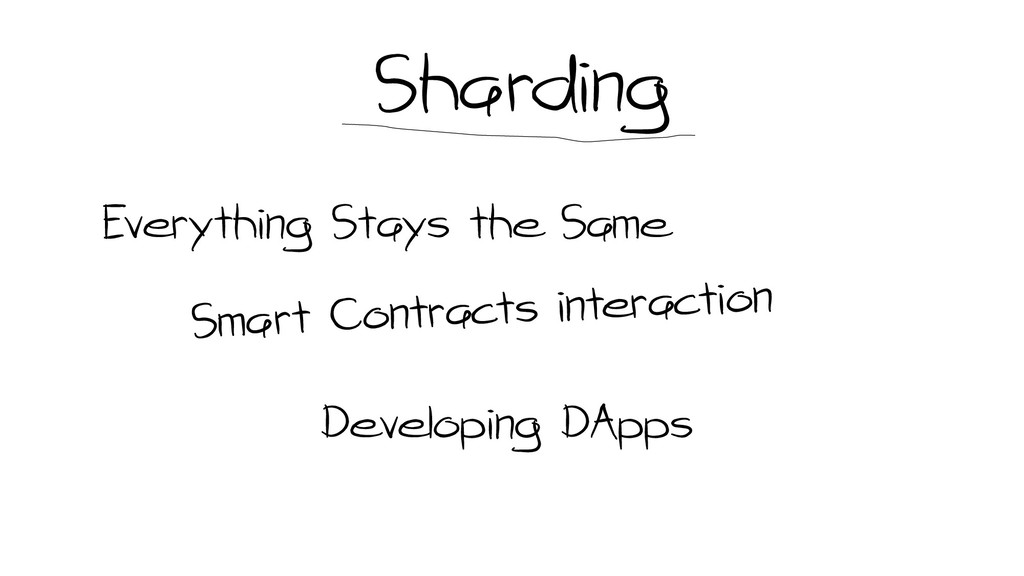 Sharding Everything Stays the Same Developing D...