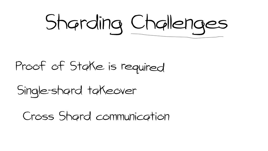 Sharding Challenges Proof of Stake is Single-sh...