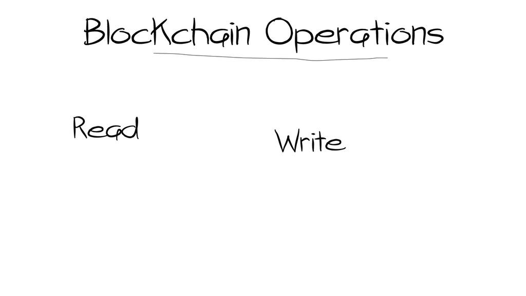Blockchain Operations Read Write
