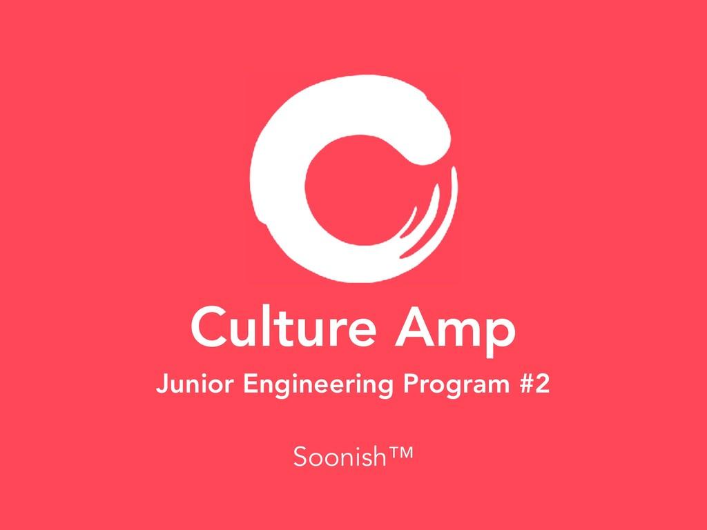 Culture Amp Junior Engineering Program #2 Sooni...