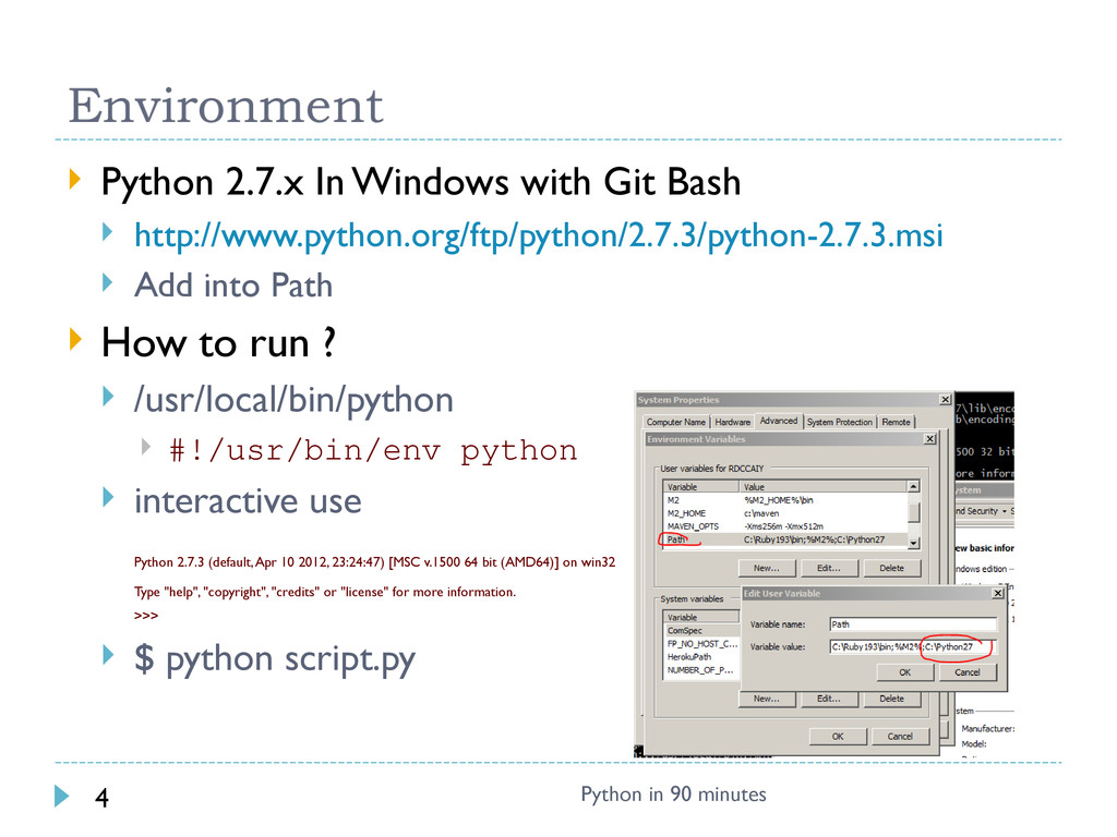  Python 2.7.x In Windows with Git Bash  http:...