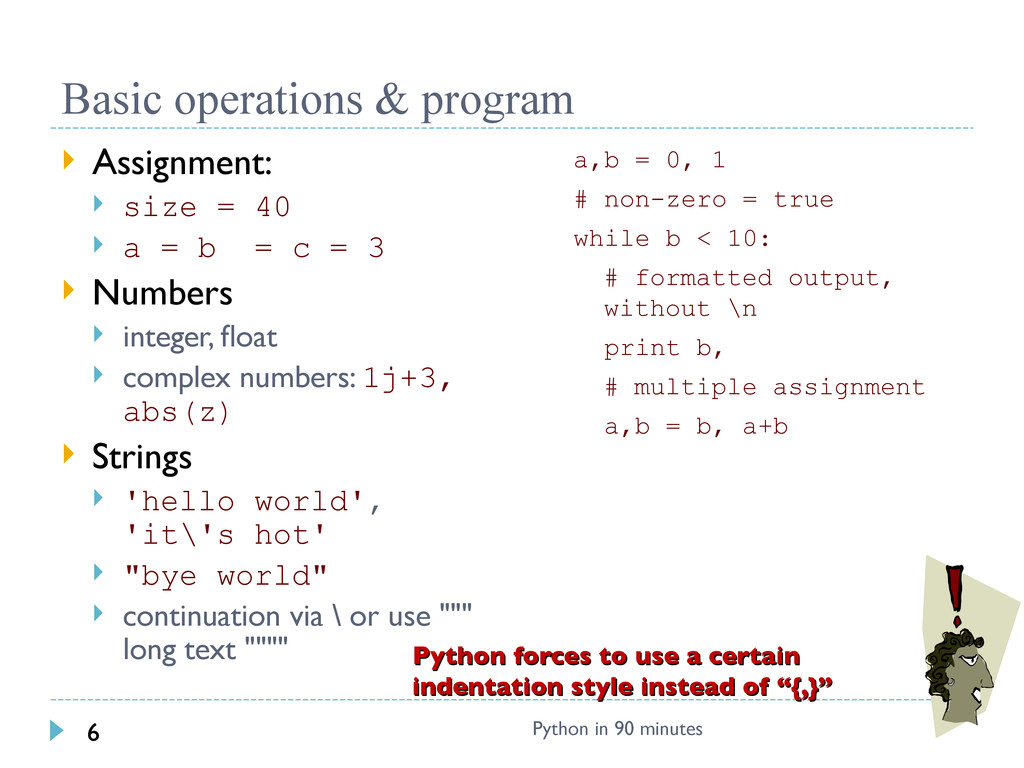 Basic operations & program  Assignment:  size...