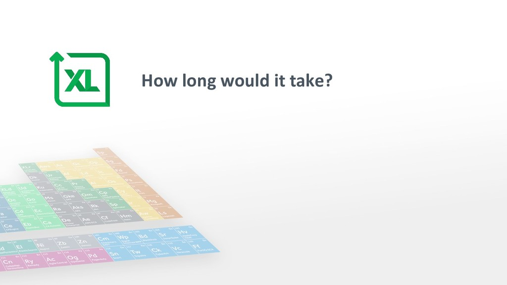 How long would it take?