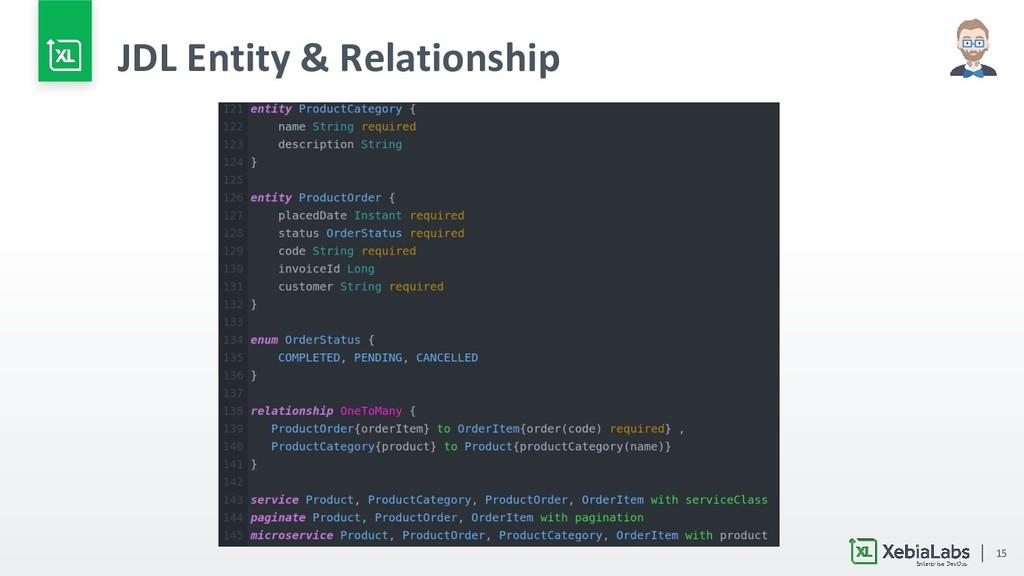 15 JDL Entity & Relationship