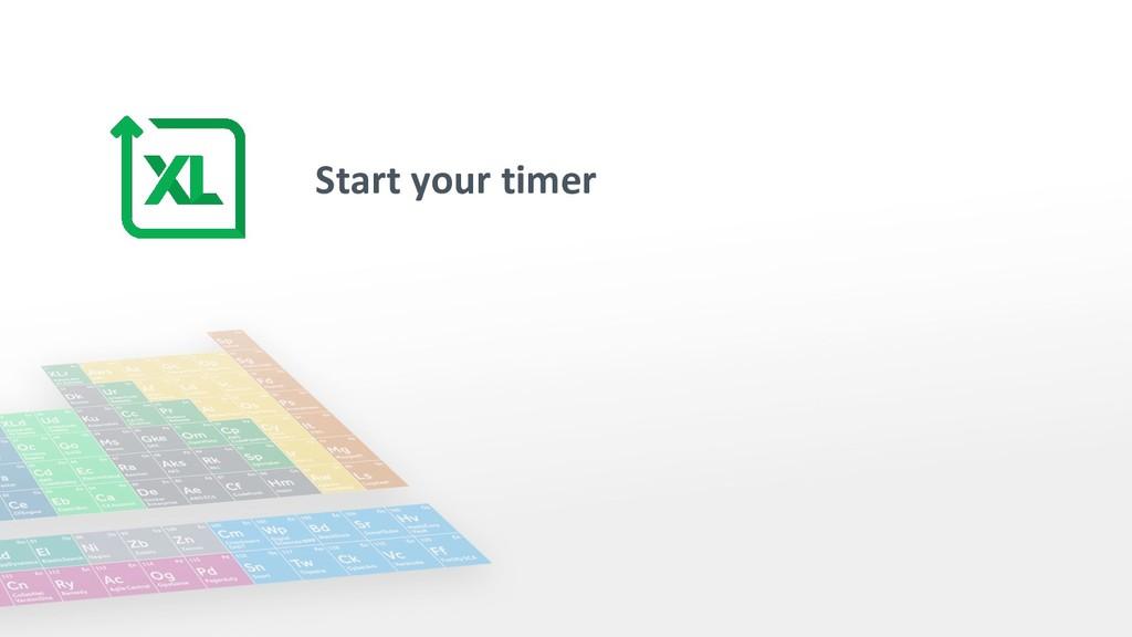 Start your timer