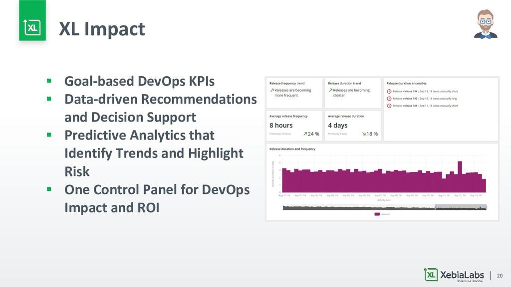 20 ▪ Goal-based DevOps KPIs ▪ Data-driven Recom...