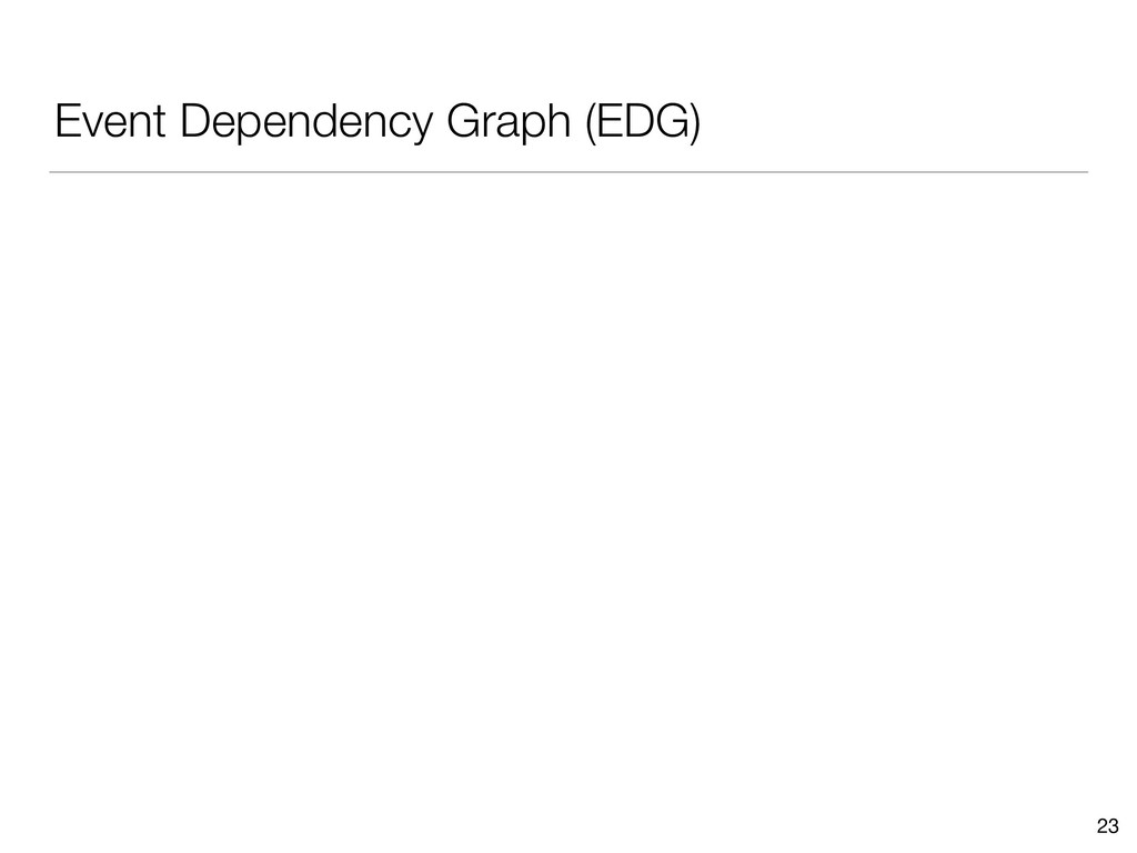 Event Dependency Graph (EDG) 23