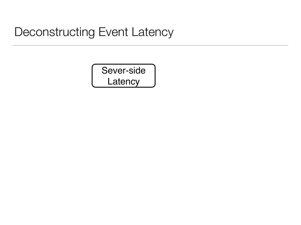 Deconstructing Event Latency Sever-side Latency