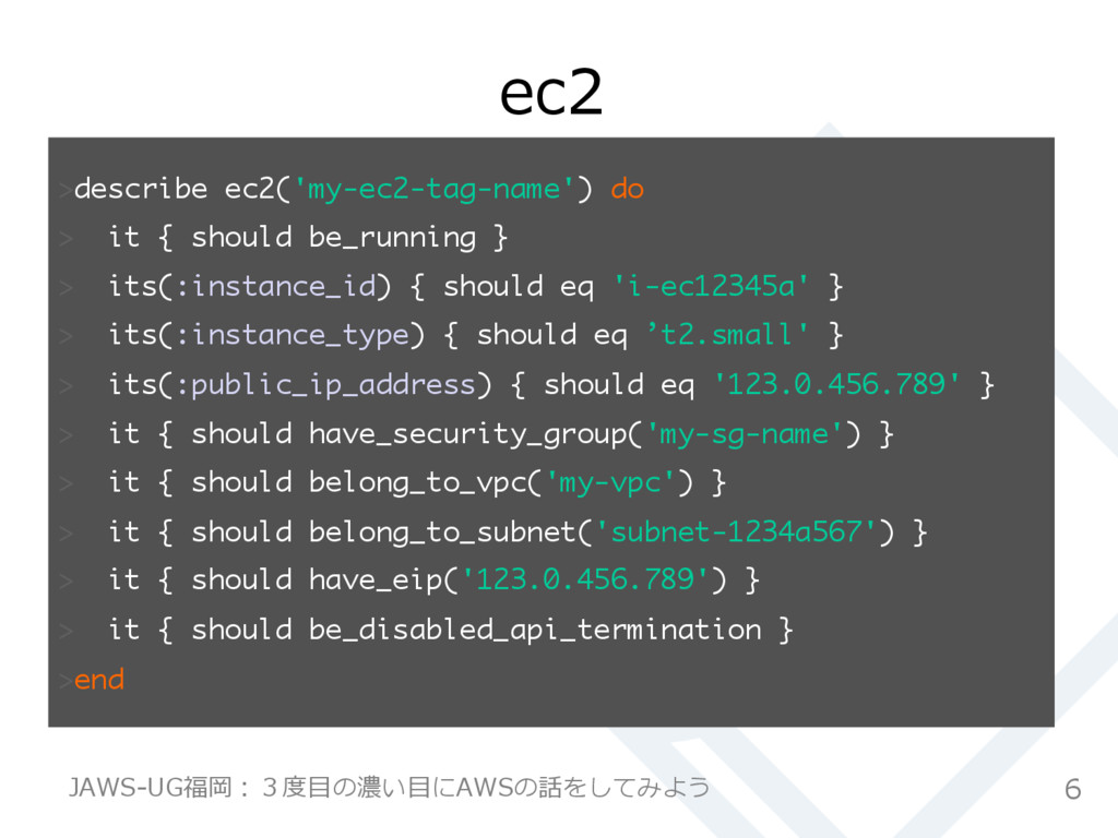 ec2 describe ec2('my-ec2-tag-name') do  it ...